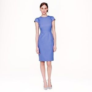 J. CREW PUFF-SLEEVE DRESS IN SUPER 120S GREAT
